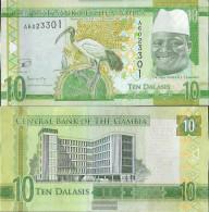 Gambia Pick-number: 32 Uncirculated 2015 10 Dalasis - Gambia