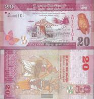Sri Lanka Pick-number: 123a Uncirculated 2010 20 Rupees - Sri Lanka