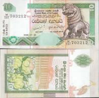Sri Lanka Pick-number: 108f Uncirculated 2006 10 Rupees - Sri Lanka