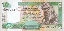 Sri Lanka Pick-number: 108e Uncirculated 2005 10 Rupees - Sri Lanka