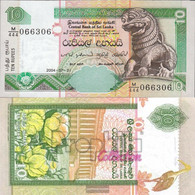 Sri Lanka Pick-number: 108d Uncirculated 2004 10 Rupees - Sri Lanka