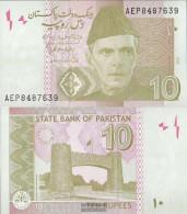 Pakistan Pick-number: 45j Uncirculated 2015 10 Rupees - Pakistan