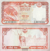 Nepal Pick-number: 62, Signature 17 Uncirculated 2008 20 Rupees - Nepal