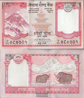 Nepal Pick-number: 60a, Signature 17 Uncirculated 2008 5 Rupees - Nepal
