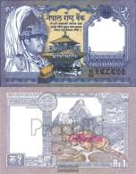 Nepal Pick-number: 37, Signature 13 Uncirculated 1991 1 Rupee - Nepal
