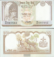Nepal Pick-number: 31b, Signature 13 Uncirculated 1987 10 Rupees - Nepal