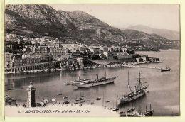 Mnc049 MONTE CARLO Monaco Vue Générale Voiliers Vapeur écrite 1910s à Miss Mary Laval - BR 1690 N°8 - Monte-Carlo