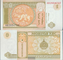 Mongolia Pick-number: 52 Uncirculated 1993 1 Tugrik - Mongolia