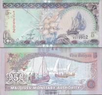 Maldives Pick-number: 18e Uncirculated 2011 5 Rufiyaa - Maldiven