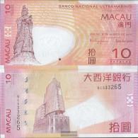 Macao Pick-number: 80b Uncirculated 2010 10 Patacas - Macau