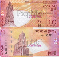 Macao Pick-number: 80 Uncirculated 2005 10 Patacas - Macau