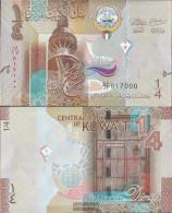 Kuwait Pick-number: 29a Uncirculated 2014 1/4 Dinar - Kuwait