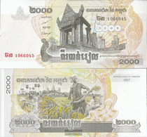 Cambodia Pick-number: 59a Uncirculated 2007 2.000 Riels - Cambodia