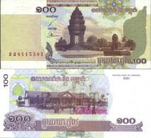 Cambodia Pick-number: 53a Uncirculated 2001 100 Riels - Cambodia