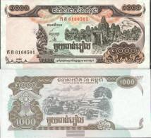Cambodia Pick-number: 51a Uncirculated 1999 1.000 Riels - Cambodia