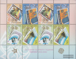 Makedonien 370-373 Sheetlet (complete Issue) Unmounted Mint / Never Hinged 2005 50 Years Europe Trade - Macedonia