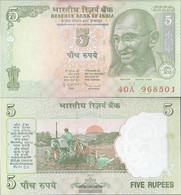 India Pick-number: 88A G, Letter R Uncirculated 2010 5 Rupees - India