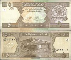 Afghanistan Pick-number: 66a Uncirculated 2002 5 Afghanis - Afghanistan
