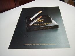 ANCIENNE AFFICHE PUBLICITE  CIGARETTE JOHN PLAYER SPECIAL 1977 - Advertising