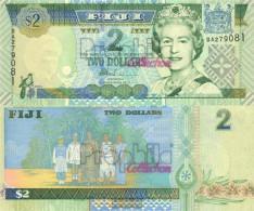 Fiji-Islands Pick-number: 96b Uncirculated 2002 2 Dollars - Fidji