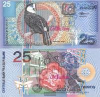 Suriname Pick-number: 148 Uncirculated 2000 25 Gulden Birds - Surinam