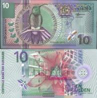 Suriname Pick-number: 147 Uncirculated 2000 10 Gulden Birds - Surinam