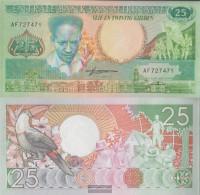 Suriname Pick-number: 132b Uncirculated 1988 25 Gulden - Surinam