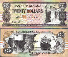 Guyana Pick-number: 30d, Signature 13 Uncirculated 1996 20 Dollars - Guyana