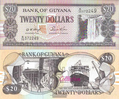 Guyana Pick-number: 30b2, Signature 12 Uncirculated 1996 20 Dollars - Guyana