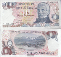 Argentina Pick-number: 315a Uncirculated 1983 100 Pesos Argentinos - Argentina