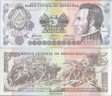 Honduras Pick-number: 91c Uncirculated 2010 5 Lempiras - Honduras