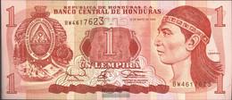 Honduras Pick-number: 76a Uncirculated 1994 1 Lempira - Honduras