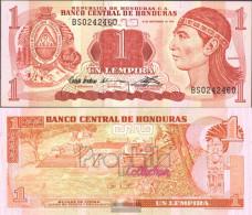 Honduras Pick-number: 71 Uncirculated 1992 1 Lempira - Honduras