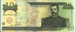 Dominican Republic Pick-number: 165b Uncirculated 2001 10 Pesos - Dominicana