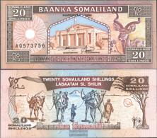 Somaliland Pick-number: 3b Uncirculated 1996 20 Shillings Springbock - Somalia