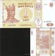 Moldawien Pick-number: 8h Uncirculated 2010 1 Leu - Moldova