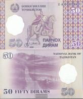 Tajikistan Pick-number: 13 Uncirculated 1999 50 Dirams - Tajikistan