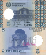 Tajikistan Pick-number: 11a Uncirculated 1999 5 Diram - Tajikistan