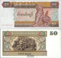 Myanmar Pick.number: 73b Uncirculated 1994 50 Kyats - Myanmar