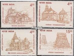 Inde 1885-1888 (complète.Edition.) Neuf Avec Gomme Originale 2001 Temple - Inde
