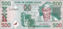 Sierra Sierra Leone Leone Pick-number: 23a Uncirculated 1995 500 Leones - Sierra Leone