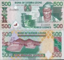 Sierra Sierra Leone Leone Pick-number: 23c Uncirculated 2003 500 Leones - Sierra Leone