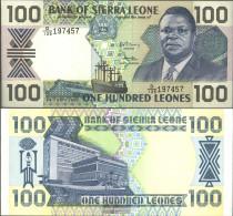 Sierra Sierra Leone Leone Pick-number: 18c Uncirculated 1990 100 Leones - Sierra Leone