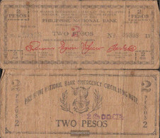 Philippines Pick-number: S577a Strong Used (IV) 1942 2 Pesos - Philippines