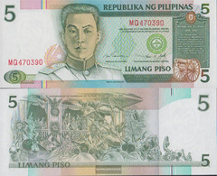 Philippines Pick-number: 180 Uncirculated 1995 5 Piso - Philippines