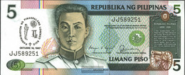 Philippines Pick-number: 176a Uncirculated 1987 5 Piso - Philippines