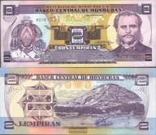 Honduras Pick-number: 80A D Uncirculated 2003 2 Lempiras - Honduras
