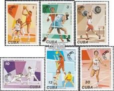 Kuba 2309-2314 (completa Edizione) MNH 1978 Caraibi Giochi Sportivi - Cuba
