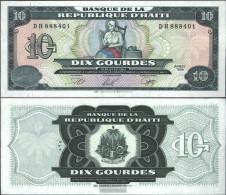 Haiti Pick-number: 256a (1999) Uncirculated 1999 10 Gourdes - Haiti