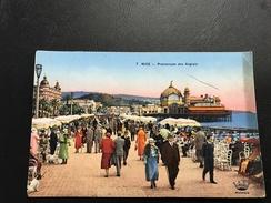 7 - NICE Promenade Des Anglais - 1936 Timbrée - Places, Squares